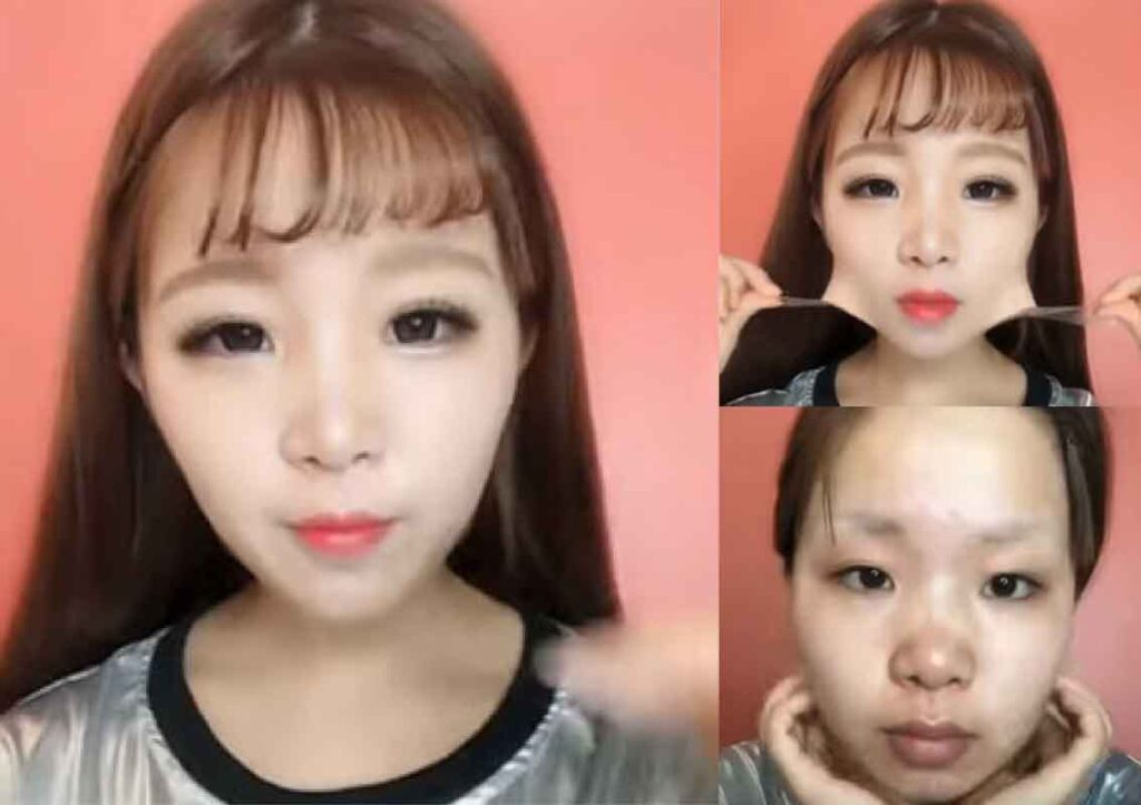 asian makeup before and after