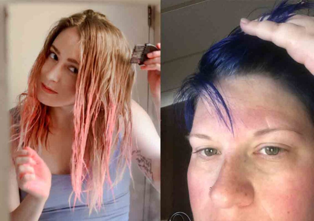 remove hair dye color from skin